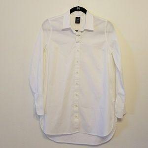 GAP Maternity white stretch shirt